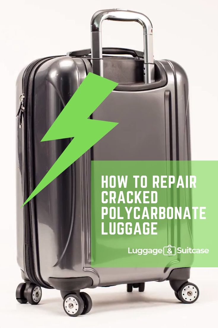 how to repair a cracked hard suitcase